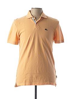 Polo manches courtes orange QUIKSILVER pour homme