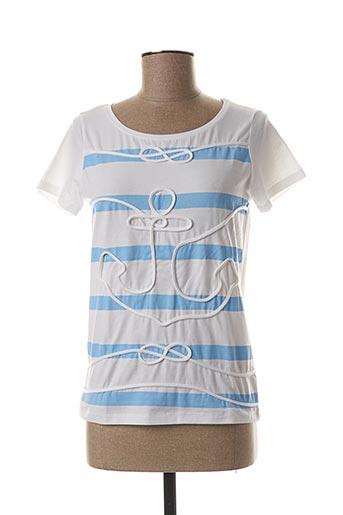 T-shirt manches courtes bleu COWEST pour femme