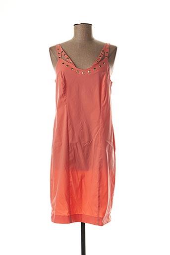 Robe mi-longue orange BLEU D'AZUR pour femme
