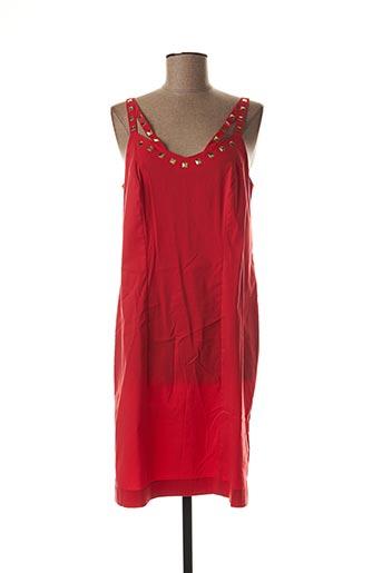 Robe mi-longue rouge BLEU D'AZUR pour femme