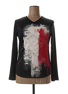 T-shirt manches longues noir DESAIVRE pour femme