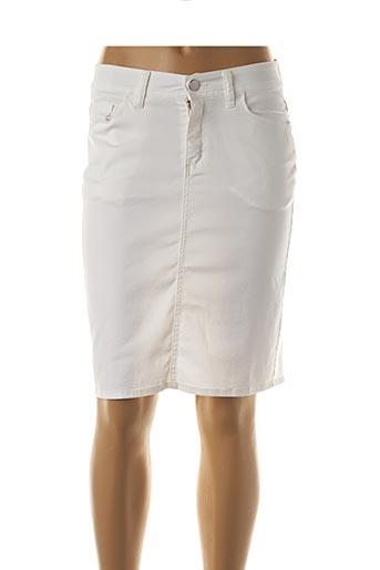 Jupe mi-longue blanc COWEST pour femme