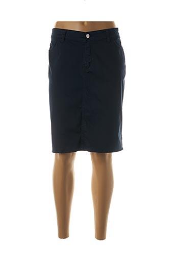 Jupe mi-longue bleu COWEST pour femme