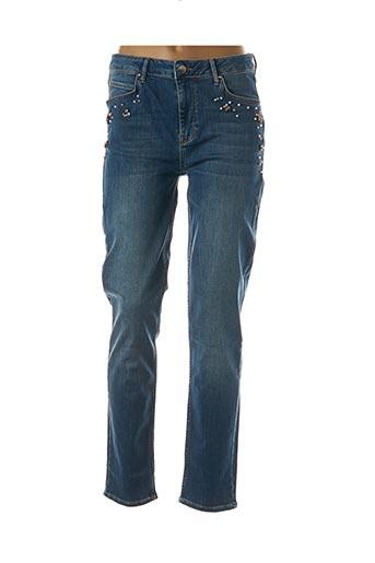 Jeans coupe slim bleu BLEU D'AZUR pour femme