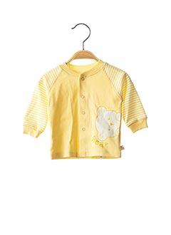 Gilet manches longues jaune BEMBI pour enfant