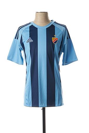 T-shirt manches courtes bleu ADIDAS pour enfant