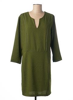 Robe mi-longue vert PAKO LITTO pour femme