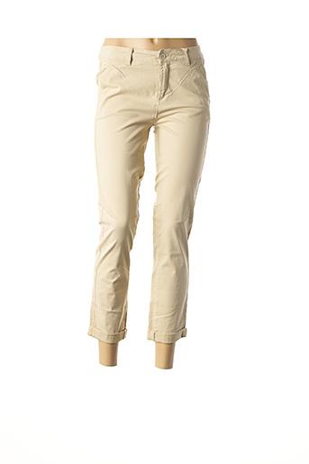 Pantalon 7/8 beige C'EST BEAU LA VIE pour femme
