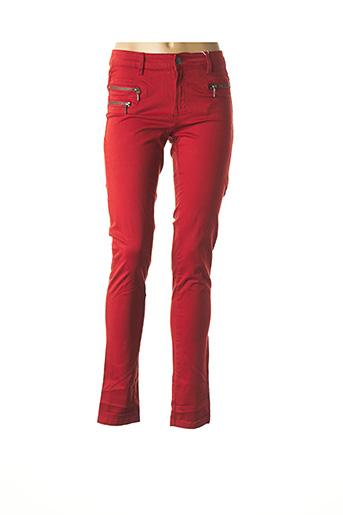 Pantalon casual orange FRANSA pour femme