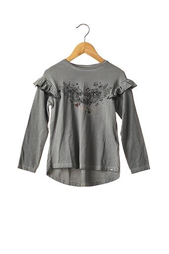 T-shirt manches longues gris MAYORAL pour fille