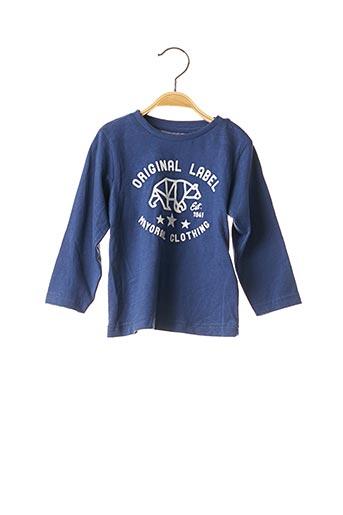 T-shirt manches longues bleu MAYORAL pour garçon