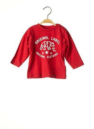 T-shirt manches longues rouge MAYORAL pour garçon