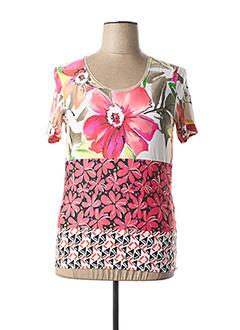 T-shirt manches courtes rose DIANE LAURY pour femme