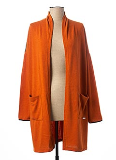 Gilet manches longues orange MALOKA pour femme