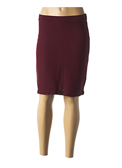 Jupe mi-longue rouge MALOKA pour femme