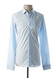 Chemise manches longues bleu KENZO pour homme