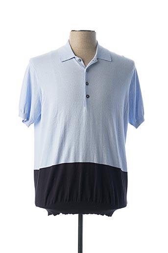 Polo manches courtes bleu PAUL SMITH pour homme