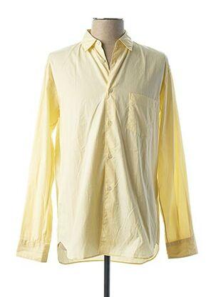 Chemise manches longues jaune COMME DES GARCONS pour homme