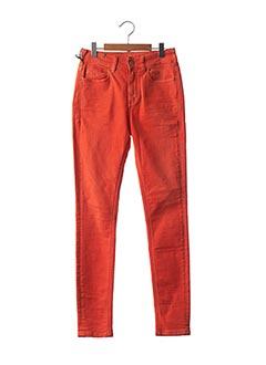 Jeans coupe slim orange ATELIER NOTIFY pour femme