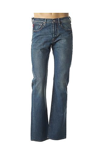 Jeans coupe droite bleu PAUL SMITH pour homme
