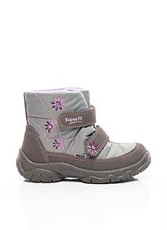 Bottines/Boots gris SUPER FIT pour fille
