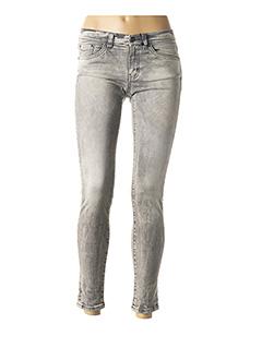 Pantalon 7/8 gris IKKS pour femme