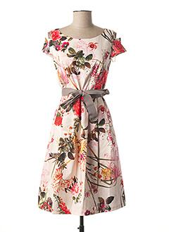 Robe mi-longue rose COMMA, pour femme