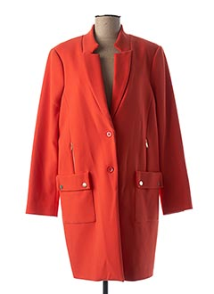 Manteau long orange EVA KAYAN pour femme