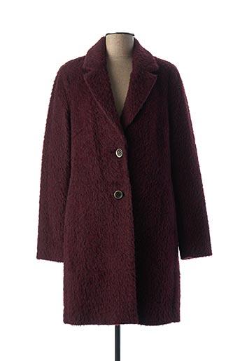 Manteau long rouge CREENSTONE pour femme