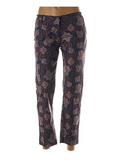 Pantalon 7/8 bleu PAKO LITTO pour femme