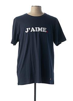 T-shirt manches courtes bleu FAGUO pour homme