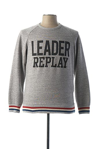Sweat-shirt gris REPLAY pour homme