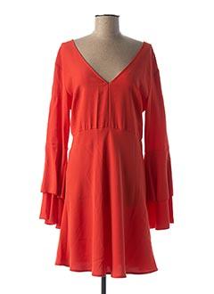 Robe mi-longue orange IMPERIAL pour femme