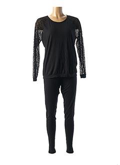 Pyjama noir ANTIGEL pour femme