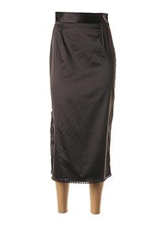Jupe mi-longue noir ANNAHPA pour femme