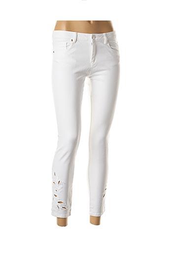 Pantalon 7/8 blanc BERENICE pour femme
