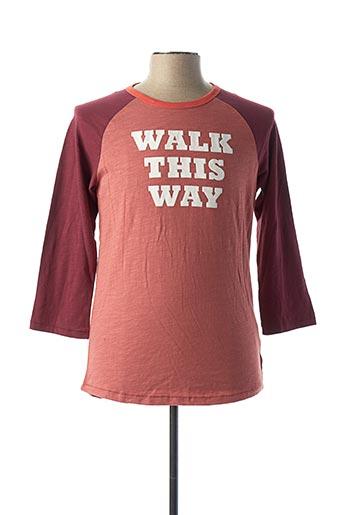 T-shirt manches longues rose SCOTCH & SODA pour homme