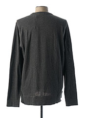 Pull col rond gris SCOTCH & SODA pour homme seconde vue