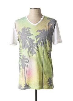 T-shirt manches courtes vert FREEMAN T.PORTER pour homme