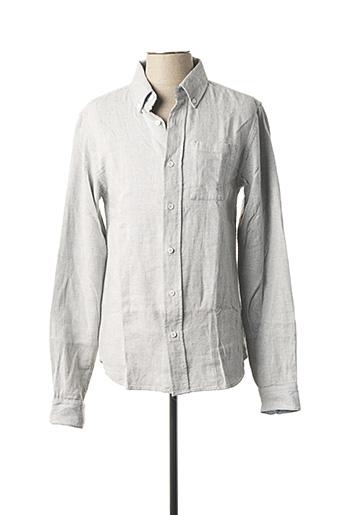 Chemise manches longues gris SCOTCH & SODA pour homme