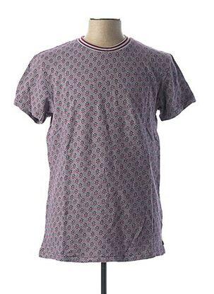 T-shirt manches courtes violet SCOTCH & SODA pour homme
