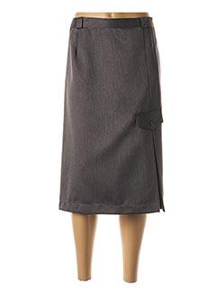 Jupe mi-longue gris 20/20 pour femme