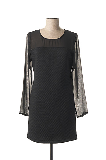 Robe courte noir COQUELICOT pour femme