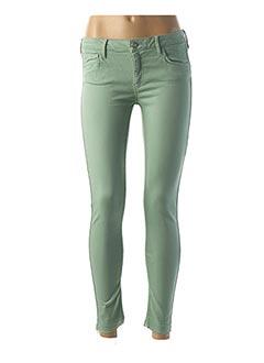 Pantalon 7/8 vert REIKO pour femme