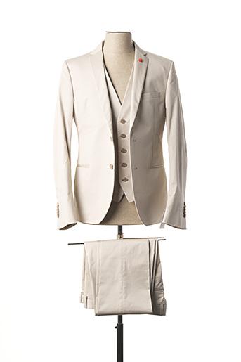 Costume de ville beige MANUEL RITZ pour homme