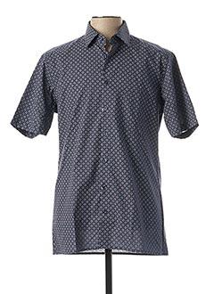 Chemise manches courtes bleu MARVELIS pour homme
