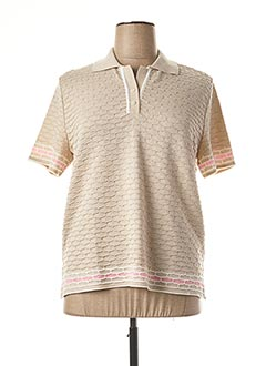 Polo manches courtes beige ELEANE pour femme