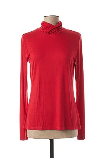 T-shirt manches longues rouge MAE MAHE pour femme