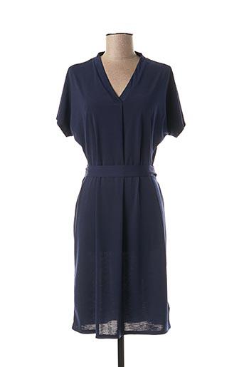 Robe mi-longue bleu MARBLE pour femme