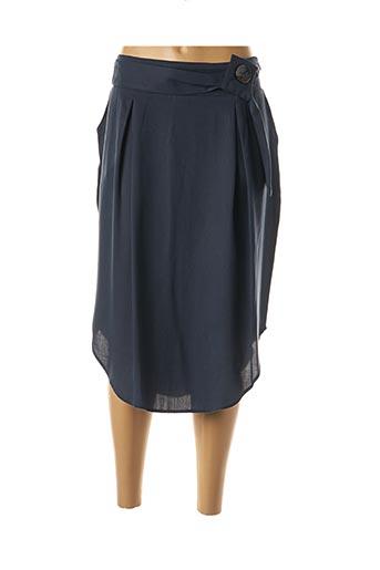 Jupe mi-longue bleu MARBLE pour femme